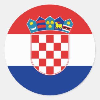 Croatia Flag HR Hrvatska Round Sticker