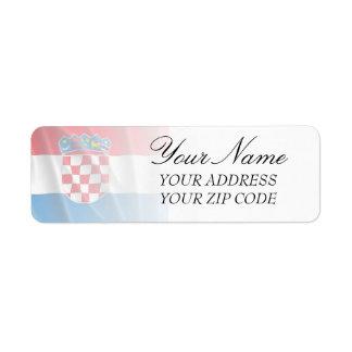 CROATIA FLAG LABEL