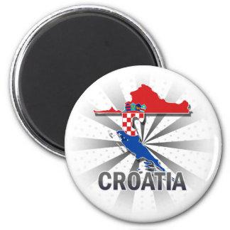 Croatia Flag Map 2.0 Magnet