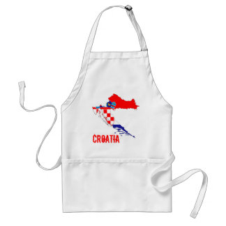 Croatia Flag Map Adult Apron