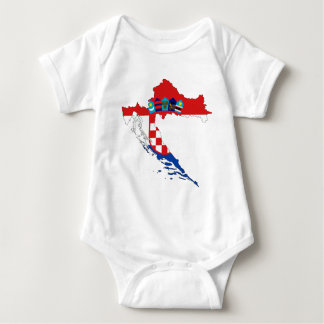 Croatia Flag Map Baby Bodysuit