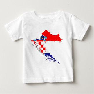Croatia Flag Map Baby T-Shirt