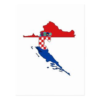 Croatia flag map postcard
