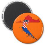 Croatia flag map refrigerator magnets