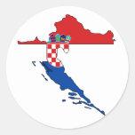 Croatia flag map stickers
