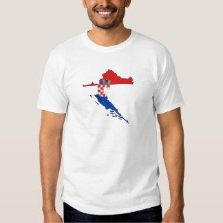 Croatia flag map t-shirt