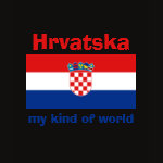 Croatia Flag Map Text Ladies Baby Doll