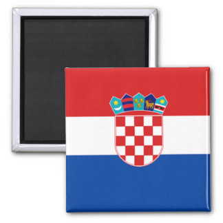 Croatia: Flag of Croatia Magnet