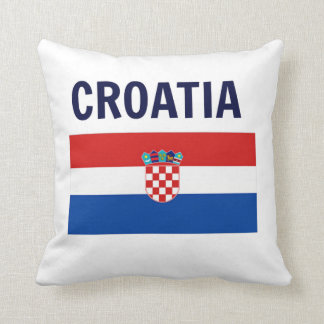 Croatia - Flag of Croatia Throw Pillow
