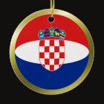 Croatia Fisheye Flag Ornament