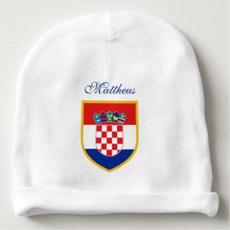 Croatia Flag Personalized Baby Beanie