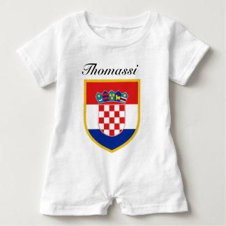 Croatia Flag Personalized Baby Romper