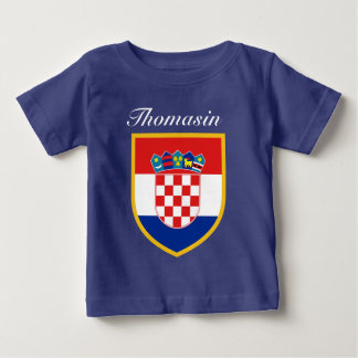 Croatia Flag Personalized Baby T-Shirt