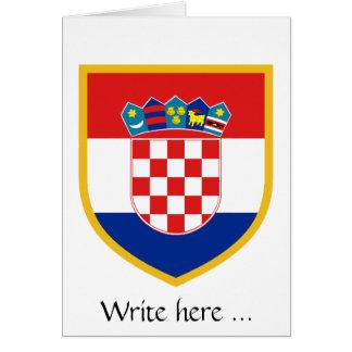 Croatia Flag Personalized Card