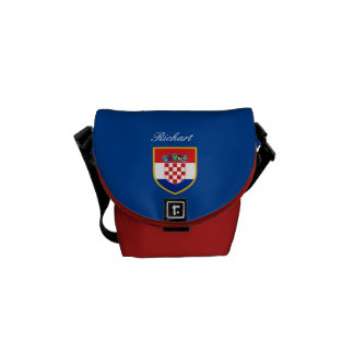 Croatia Flag Personalized Courier Bag