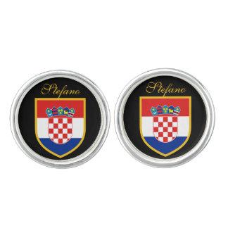 Croatia Flag Personalized Cufflinks
