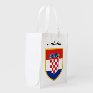 Croatia Flag Personalized Grocery Bag