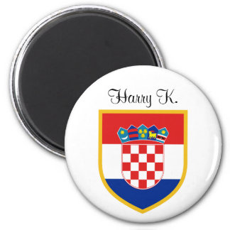 Croatia Flag Personalized Magnet
