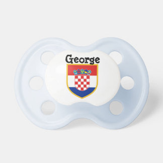 Croatia Flag Personalized Pacifier