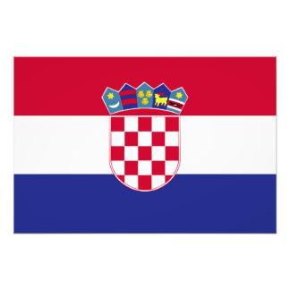 Croatia Flag Photo Print