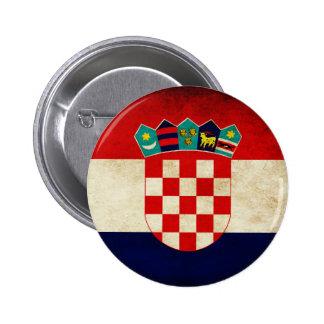 Croatia Flag Pinback Button