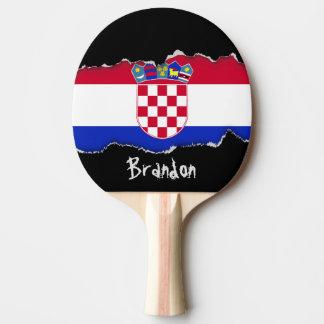 Croatia Flag Ping-Pong Paddle