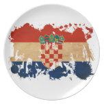 Croatia Flag Plate