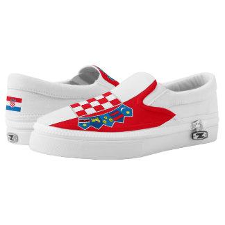 Croatia Flag -.png Slip-On Sneakers