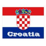 Croatia flag postcards