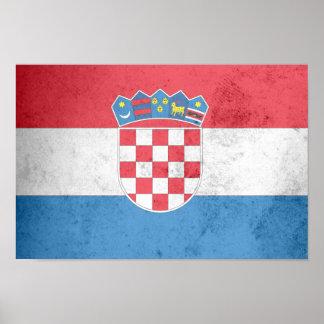 Croatia Flag Poster