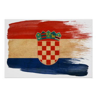 Croatia Flag Posters