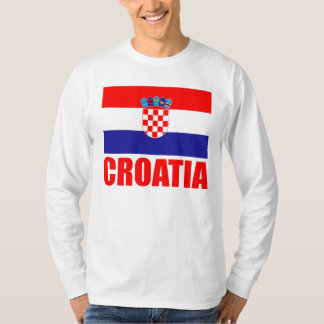 Croatia Flag Red Text T-Shirt