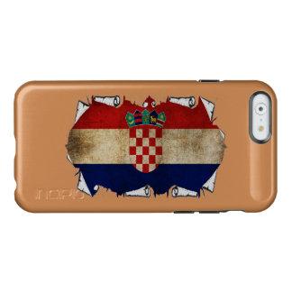 croatia flag ripped incipio feather® shine iPhone 6 case