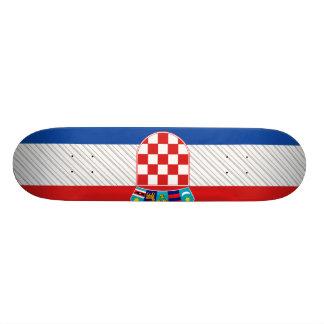 Croatia Flag Skate Deck