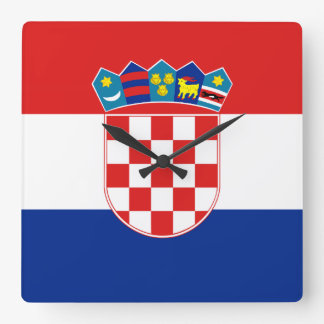 Croatia Flag Square Wall Clock