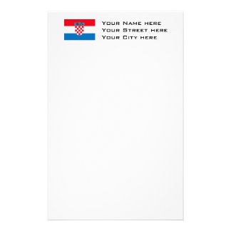 Croatia Flag Stationery