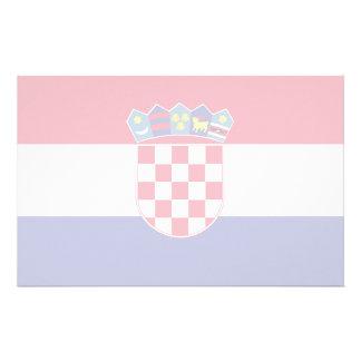 Croatia Flag Stationery Design