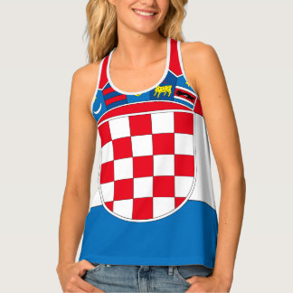 Croatia Flag Tank Top
