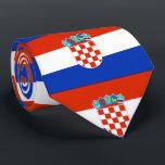 """Croatia Flag Tie<br><div class=""""desc"""">Flag of Croatia</div>"""