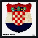 """Croatia Flag Wall Sticker<br><div class=""""desc"""">Croatian Flag</div>"""