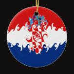 Croatia Gnarly Flag Ceramic Ornament