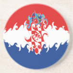 Croatia Gnarly Flag Sandstone Coaster