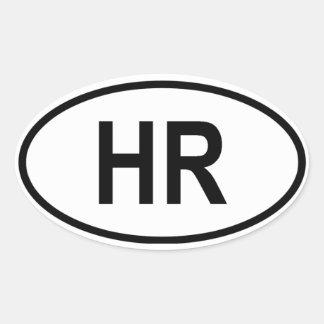 "Croatia ""HR"" Oval Sticker"