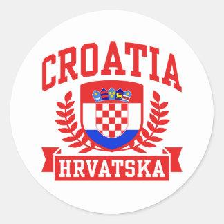 Croatia Hrvatska Classic Round Sticker