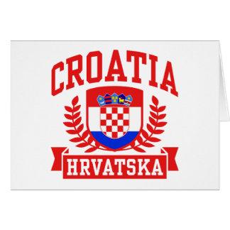 Croatia Hrvatska Greeting Card