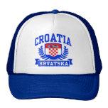 Croatia Hrvatska Mesh Hats