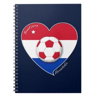"Croatia ""HRVATSKA"" Soccer Team Fútbol Croacia 2014 Libretas"