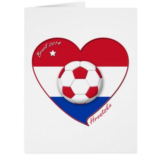 "Croatia ""HRVATSKA"" Soccer Team Fútbol Croacia 2014 Felicitación"