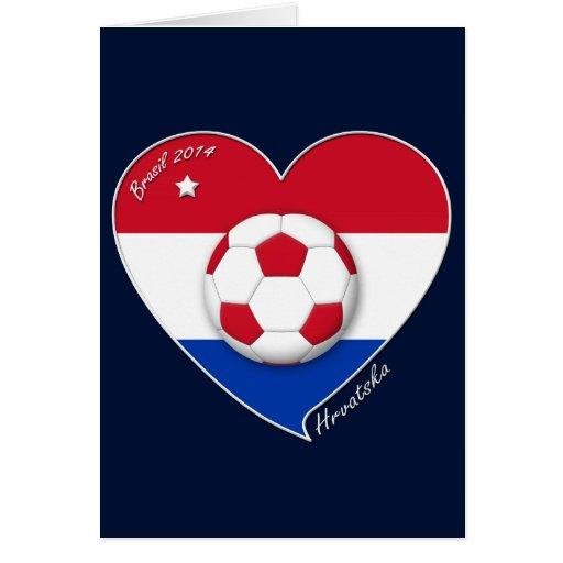 """Croatia """"HRVATSKA"""" Soccer Team Fútbol Croacia 2014 Felicitacion"""