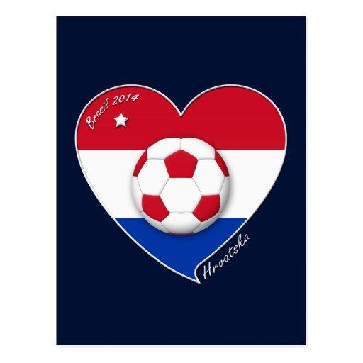 "Croatia ""HRVATSKA"" Soccer Team Fútbol Croacia 2014 Tarjeta Postal"